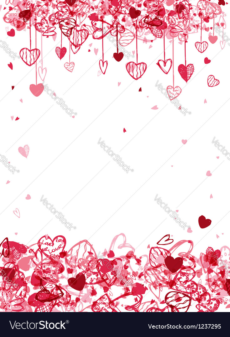 Valentine frame design with space for your text vector | Price: 1 Credit (USD $1)