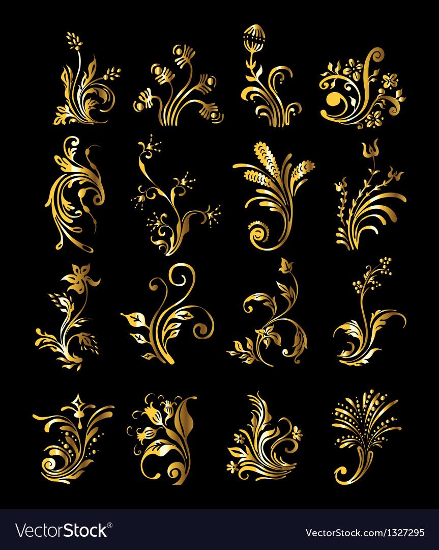 Vintage golden decoration elements vector   Price: 1 Credit (USD $1)
