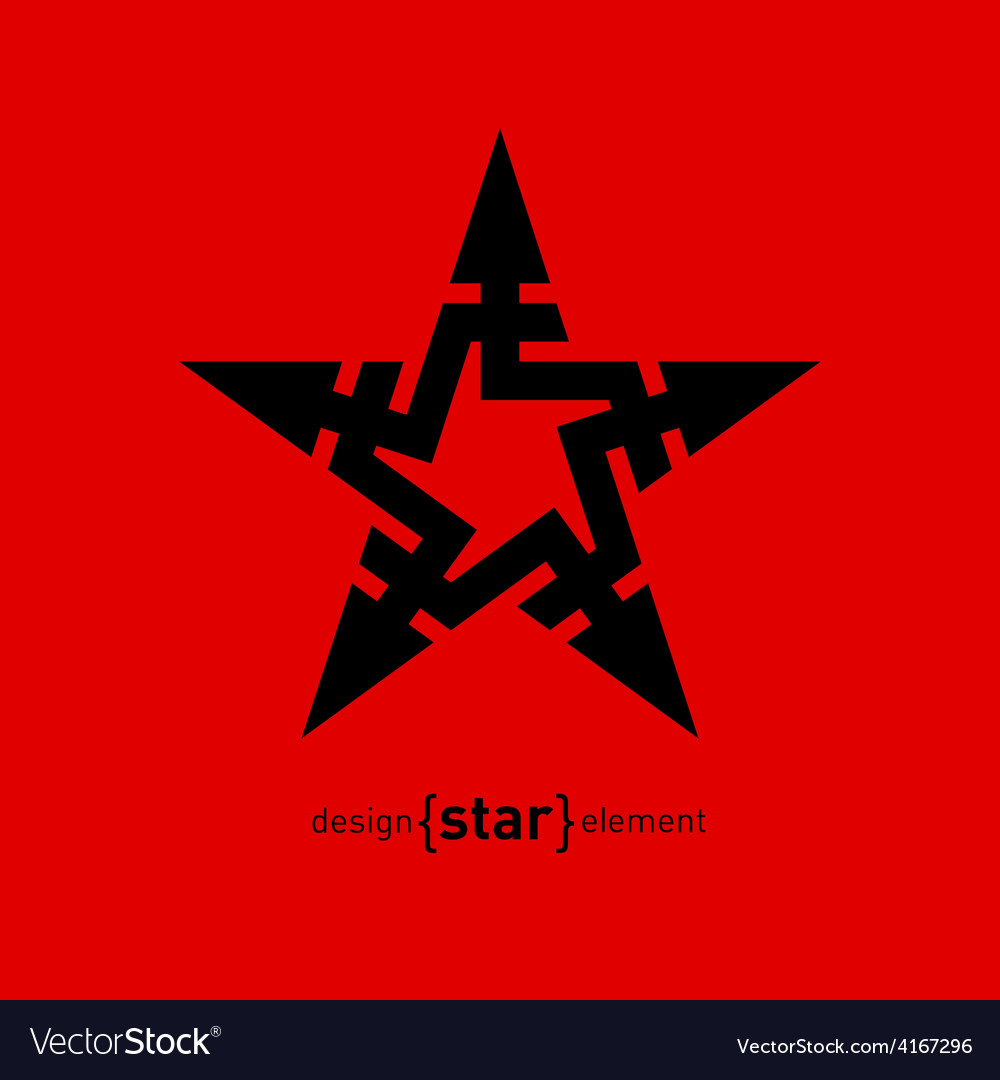 Abstract design element star with arrows vector | Price: 1 Credit (USD $1)