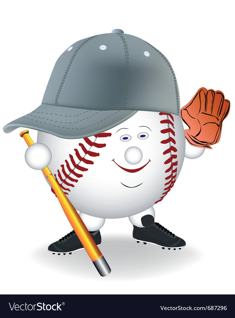 Baseball cartoon character vector | Price: 1 Credit (USD $1)