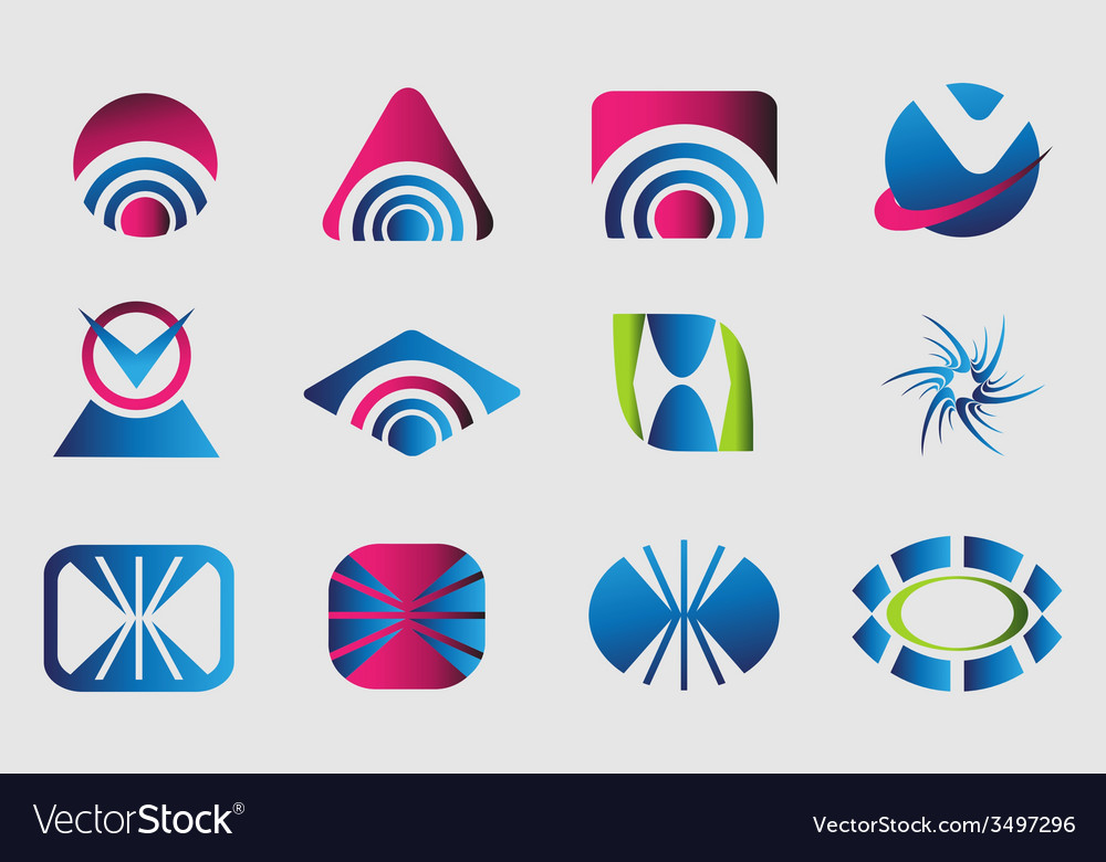 Collection of 12 logo design elements vector | Price: 1 Credit (USD $1)