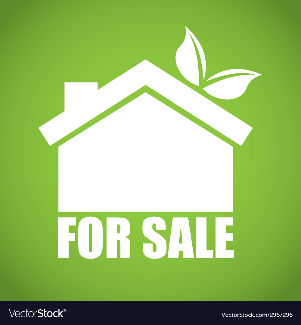 Eco house design vector | Price: 1 Credit (USD $1)