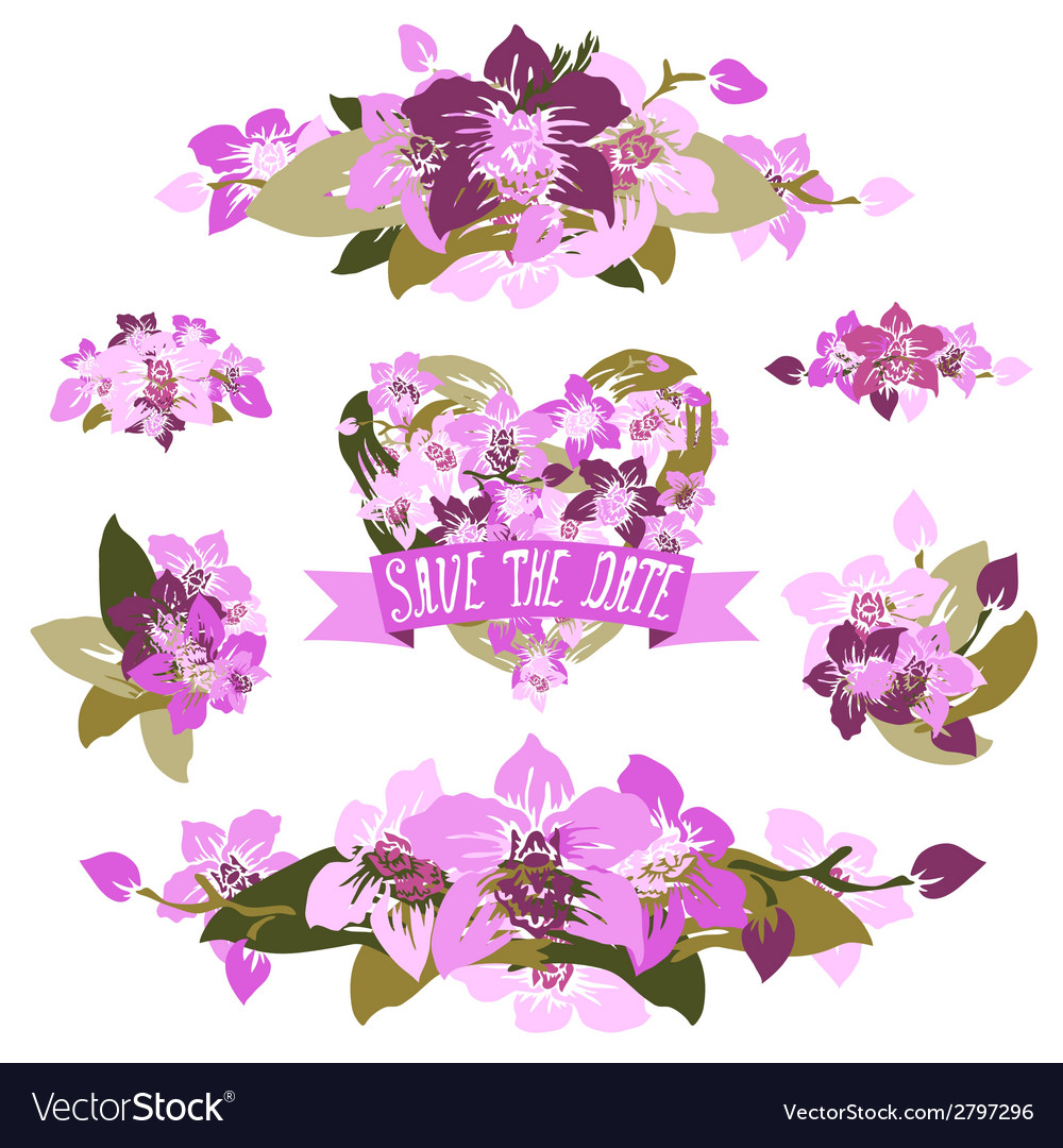 Floral bouquets vector | Price: 1 Credit (USD $1)