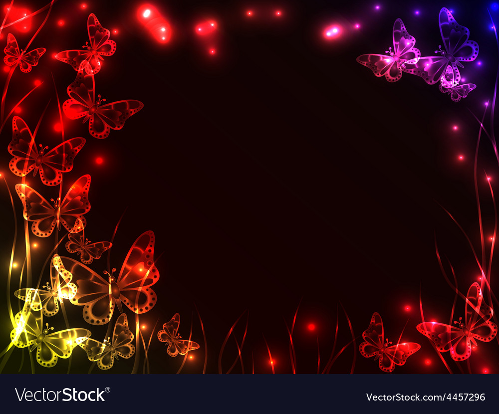 Frame made of plasma butterflies vector | Price: 1 Credit (USD $1)