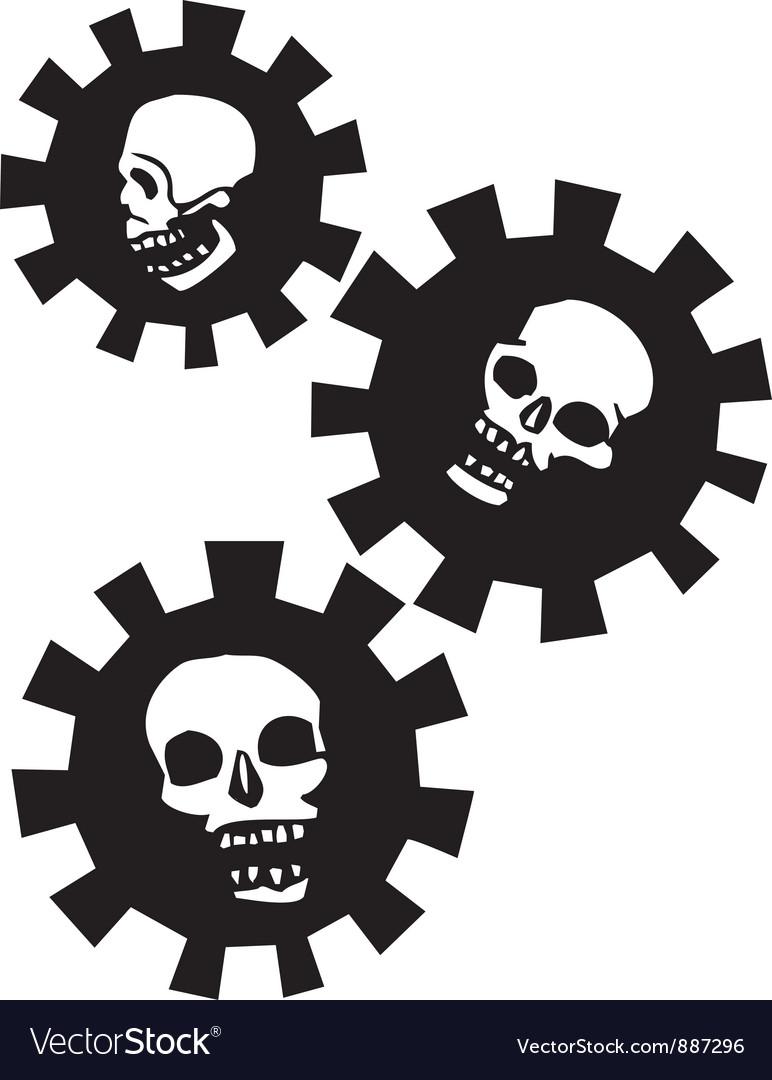 Gear skulls vector | Price: 1 Credit (USD $1)