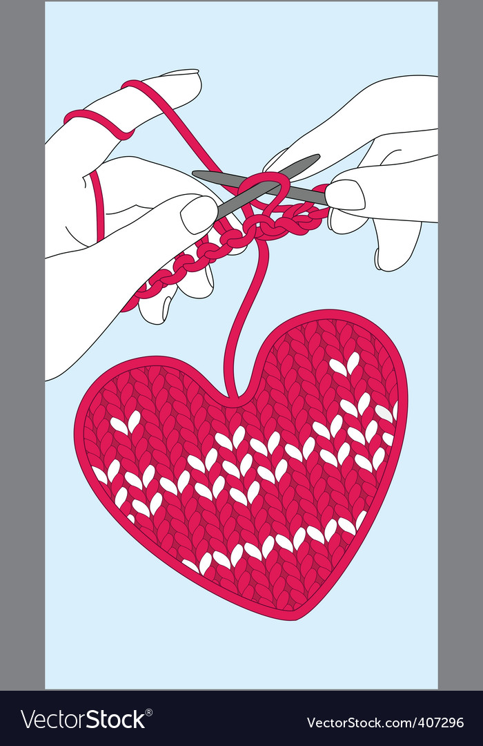 Knit heart vector | Price: 1 Credit (USD $1)