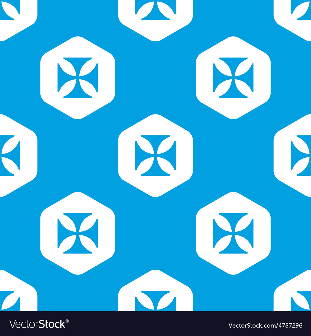 Maltese cross hexagon pattern vector | Price: 1 Credit (USD $1)