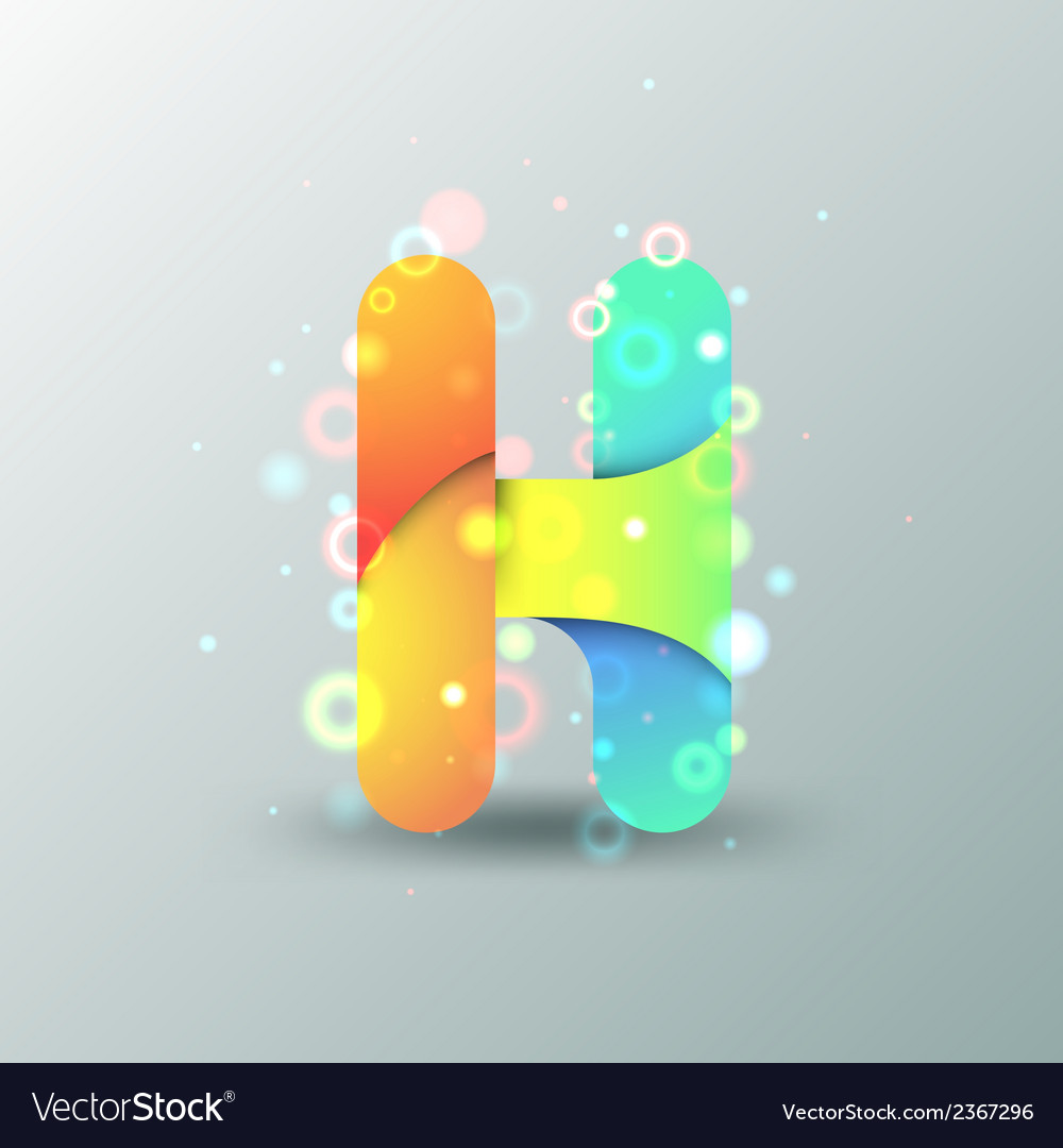 Modern capital letter h vector | Price: 1 Credit (USD $1)