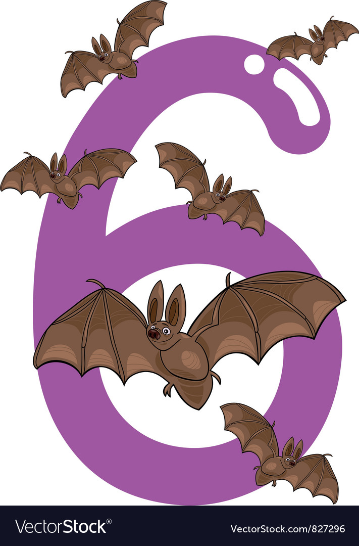 Number six vector | Price: 3 Credit (USD $3)
