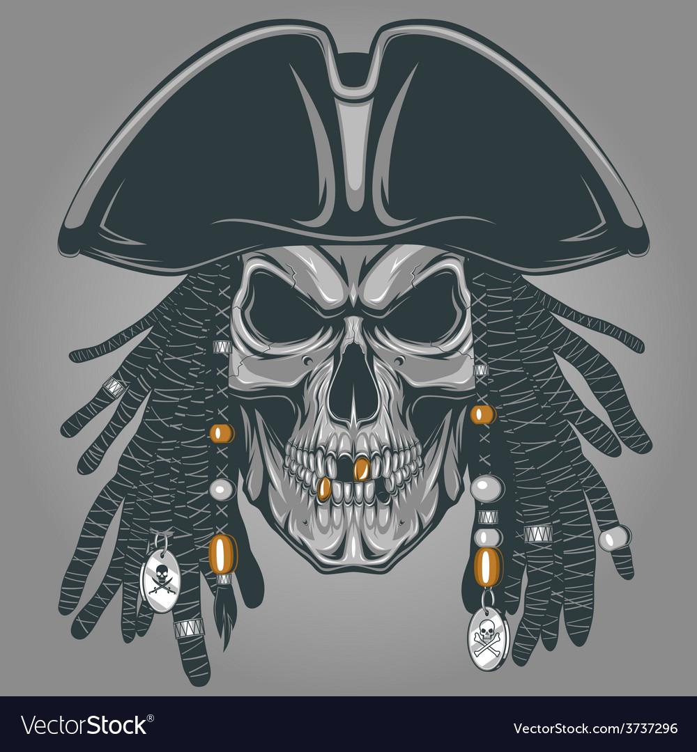 Pirate skull vector | Price: 3 Credit (USD $3)