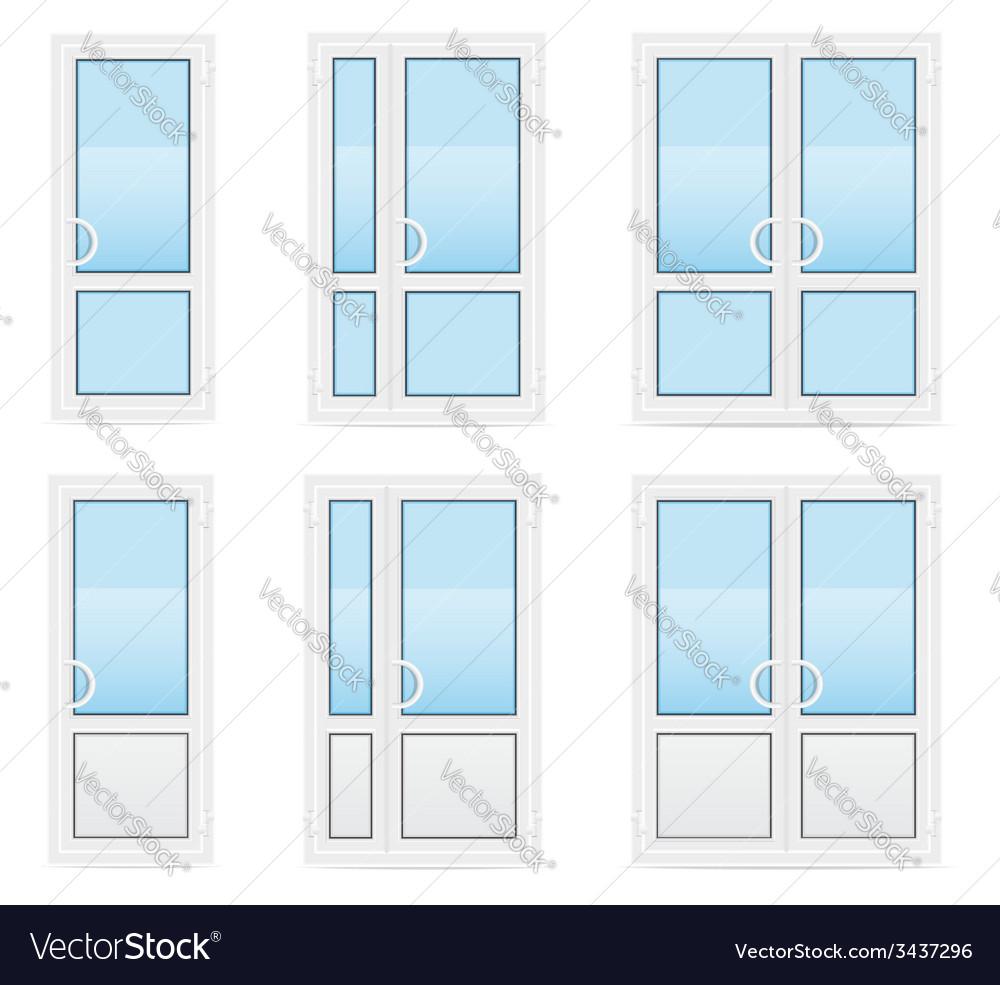 Plastic doors 04 vector | Price: 1 Credit (USD $1)