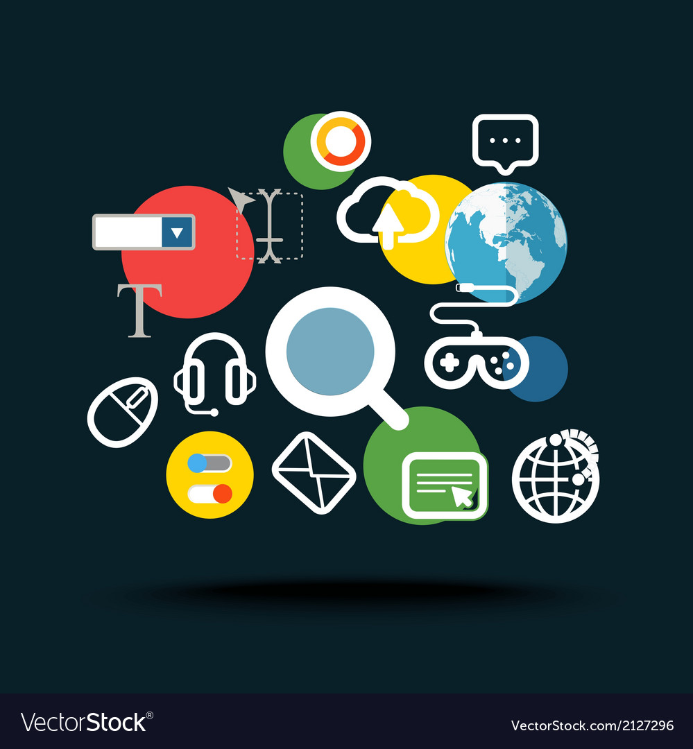 Searching information concept vector | Price: 1 Credit (USD $1)