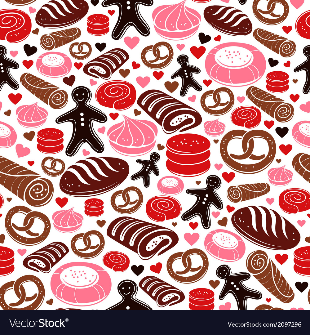 Sweet bakery seamless pattern vector | Price: 1 Credit (USD $1)