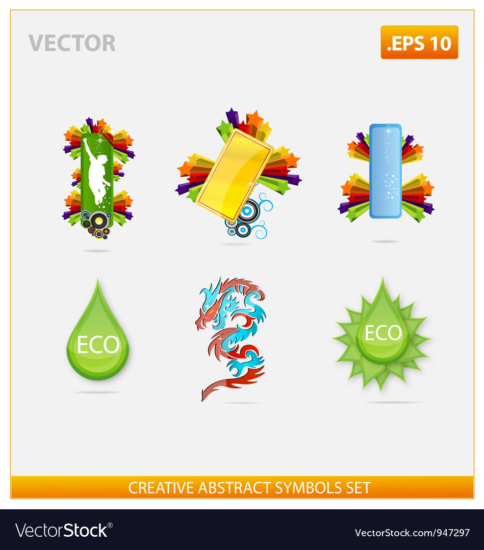 Abstract design and creative eco sign vector | Price: 3 Credit (USD $3)