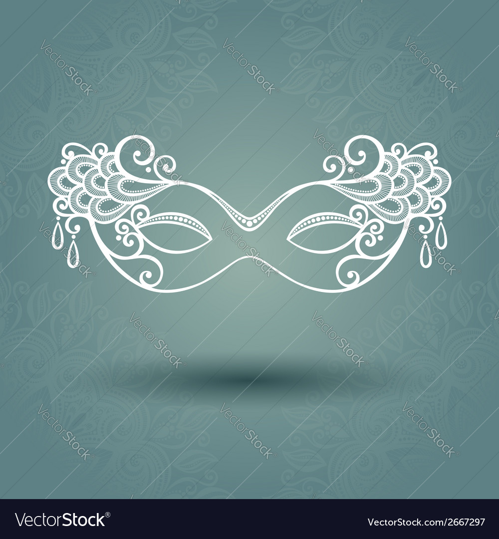 Beautiful masquerade mask vector | Price: 1 Credit (USD $1)