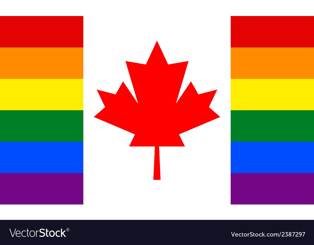 Canada gay flag vector | Price: 1 Credit (USD $1)