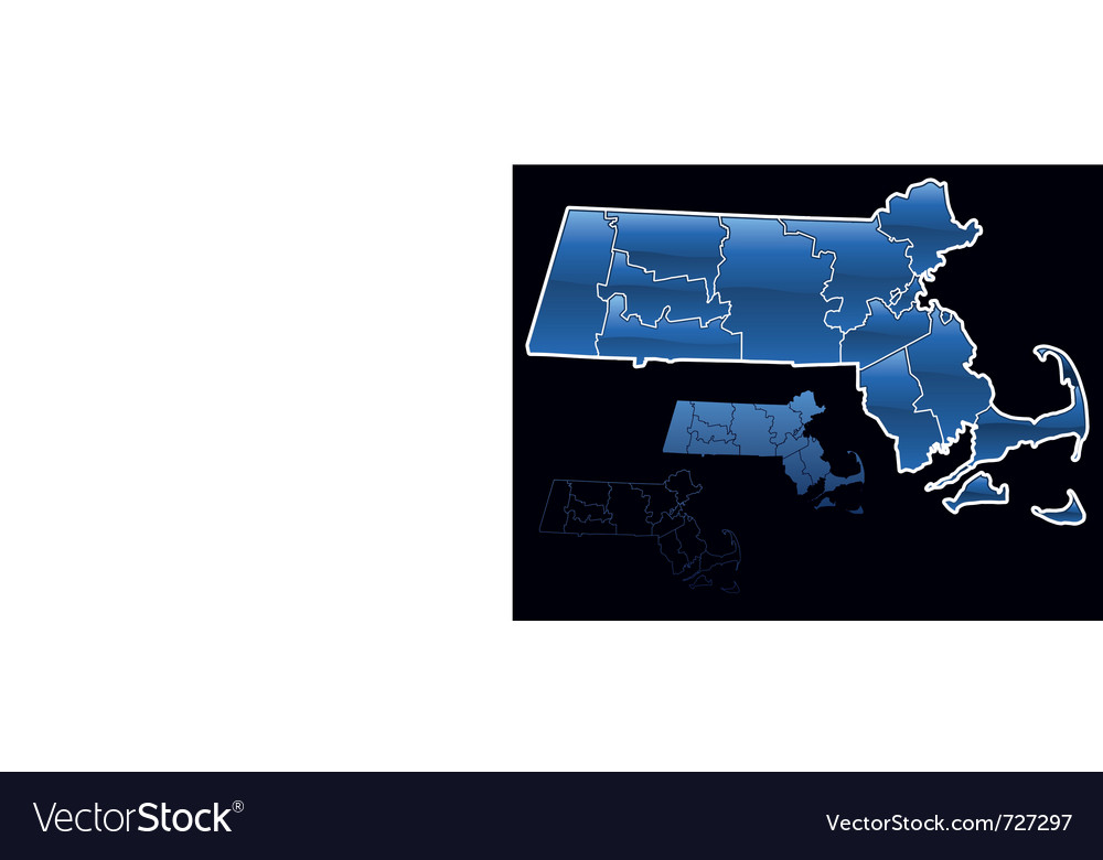 Counties of massachusetts vector | Price: 1 Credit (USD $1)