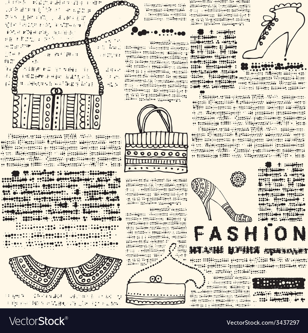 Imitation newspapers of fashion vector | Price: 1 Credit (USD $1)