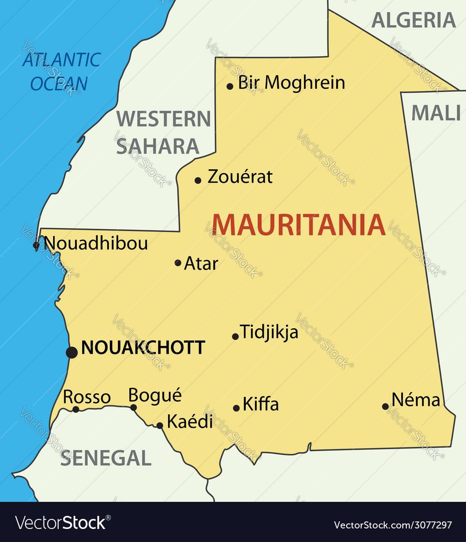 Islamic republic of mauritania - map vector | Price: 1 Credit (USD $1)