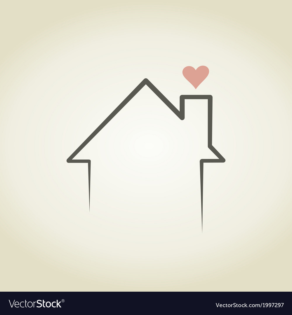 Love the house vector | Price: 1 Credit (USD $1)