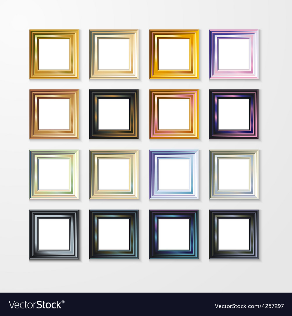 Picture frame design image text vector | Price: 1 Credit (USD $1)