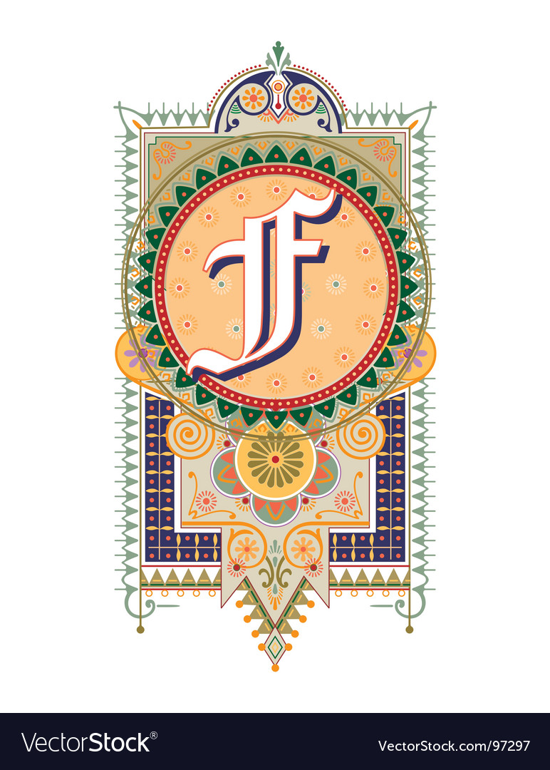 Royal letter f vector | Price: 1 Credit (USD $1)