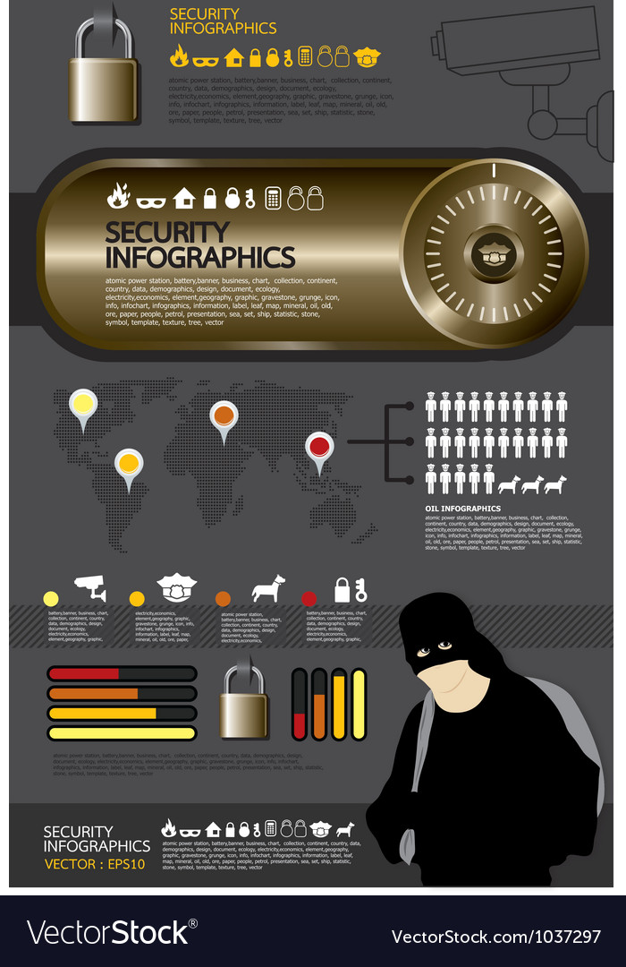 Security infographic vector | Price: 1 Credit (USD $1)