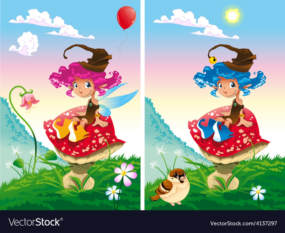 Spot the differences vector | Price: 3 Credit (USD $3)