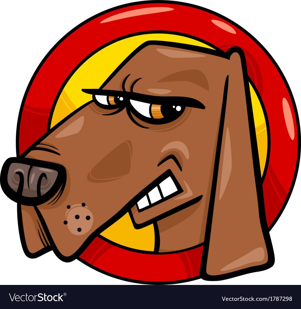 Bad dog sign cartoon vector | Price: 1 Credit (USD $1)