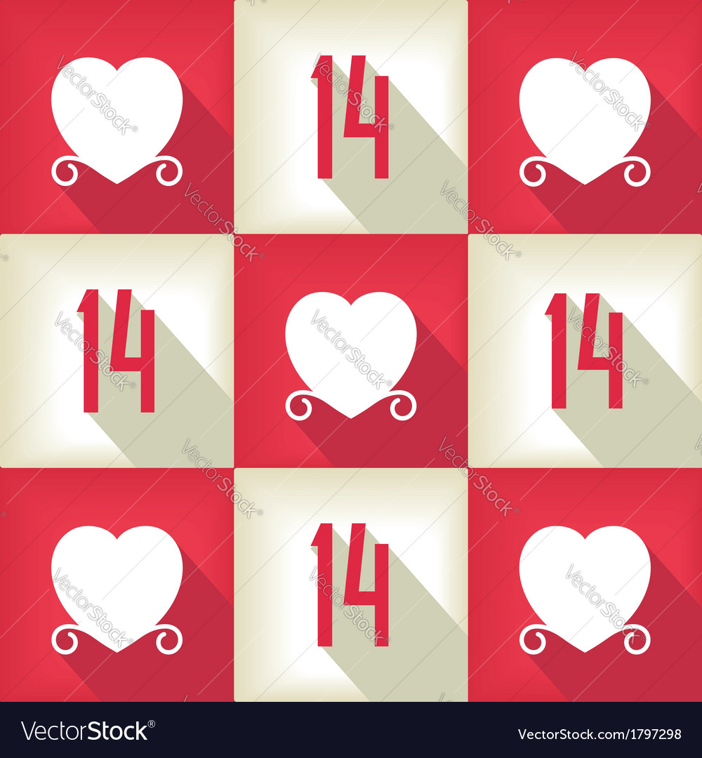 Funny valentines day pop-art pattern vector | Price: 1 Credit (USD $1)