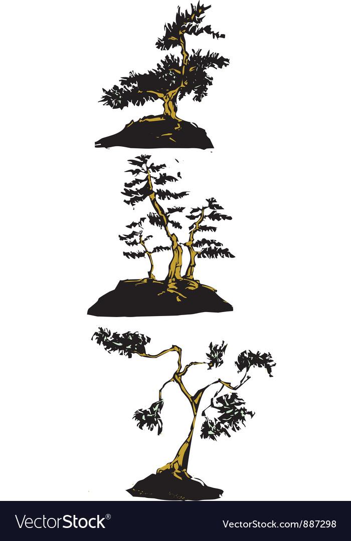 Japanese bonsai trees vector   Price: 1 Credit (USD $1)