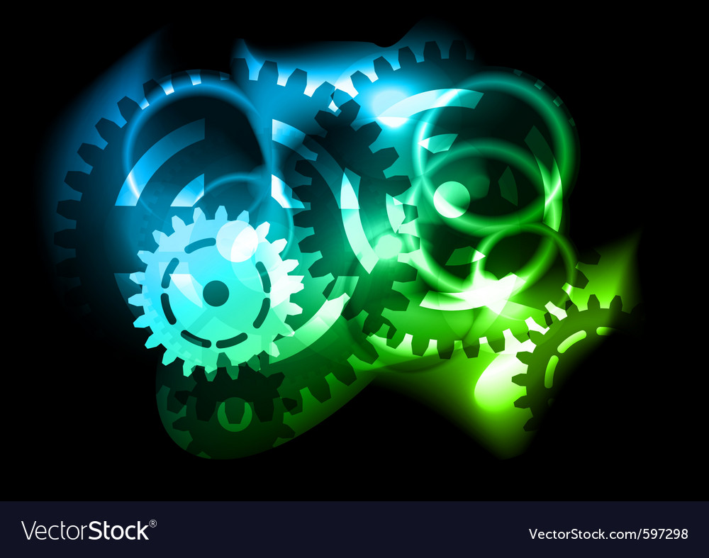 Neon cogwheel vector | Price: 1 Credit (USD $1)