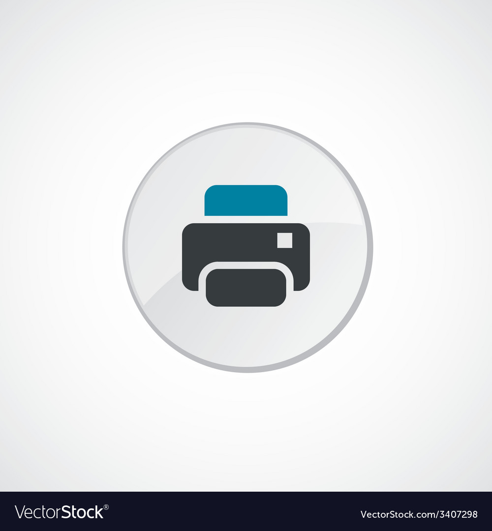 Printer icon 2 colored vector | Price: 1 Credit (USD $1)
