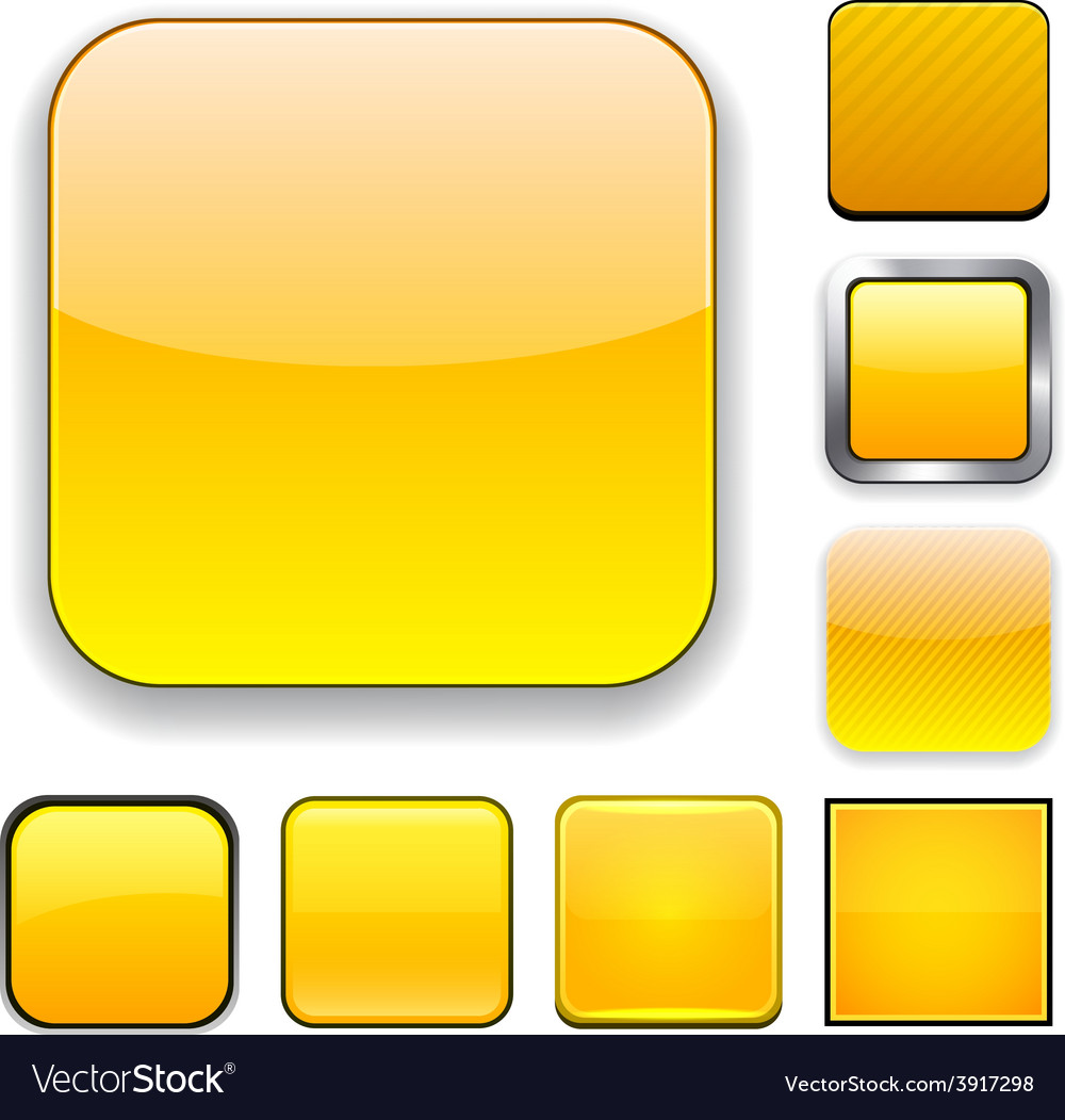 Square yellow app icons vector | Price: 1 Credit (USD $1)