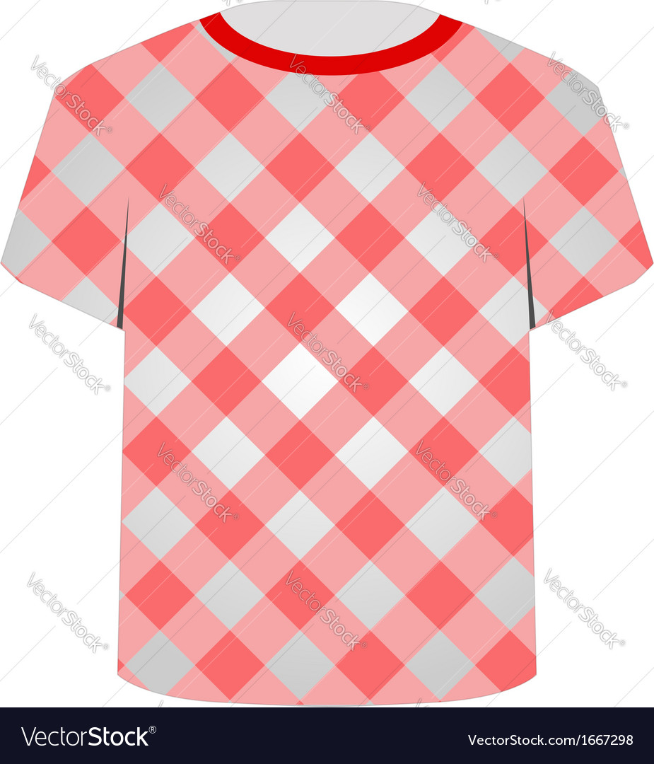 T shirt template- gingham pattern vector | Price: 1 Credit (USD $1)