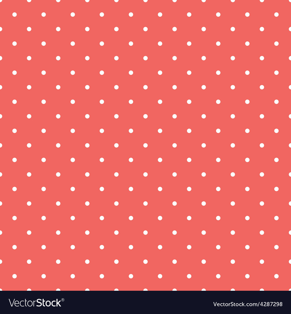 Tile pattern white polka dots on pastel background vector | Price: 1 Credit (USD $1)