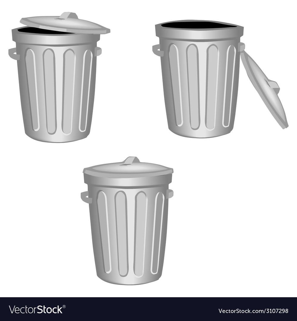 Trash can vector | Price: 1 Credit (USD $1)