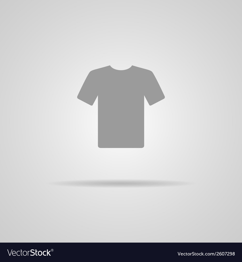 White blank tshirt icon symbol vector | Price: 1 Credit (USD $1)