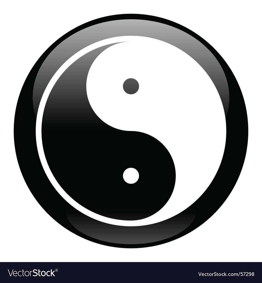 Yin-yang black icon vector | Price: 1 Credit (USD $1)