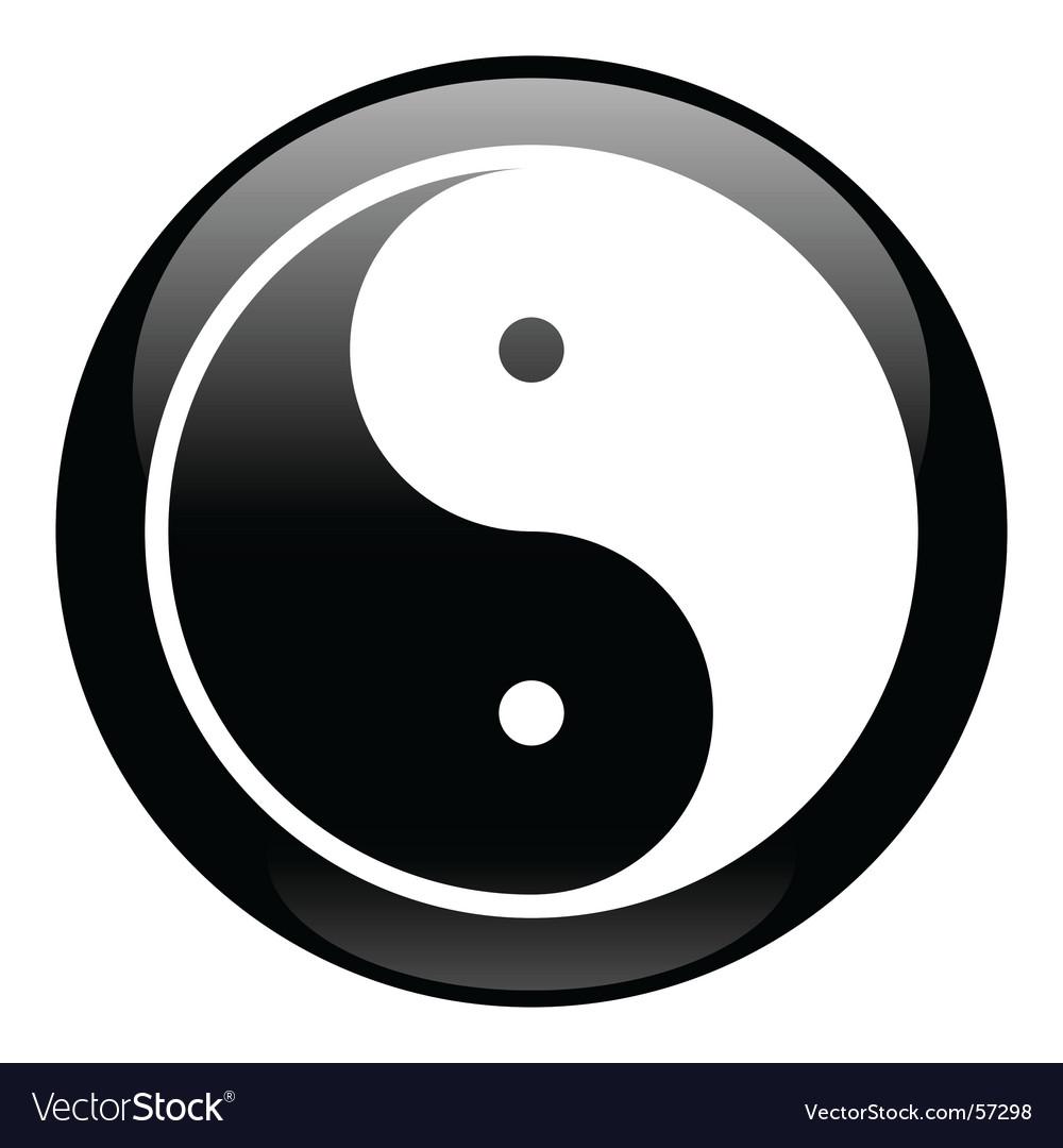 Yin-yang black icon vector | Price: 1 Credit (USD $1)