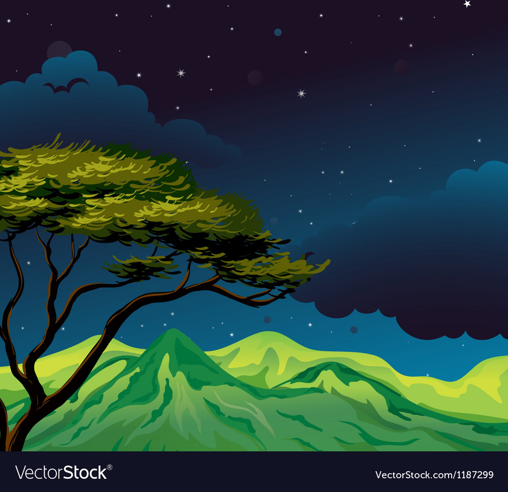 A starry evening vector | Price: 1 Credit (USD $1)