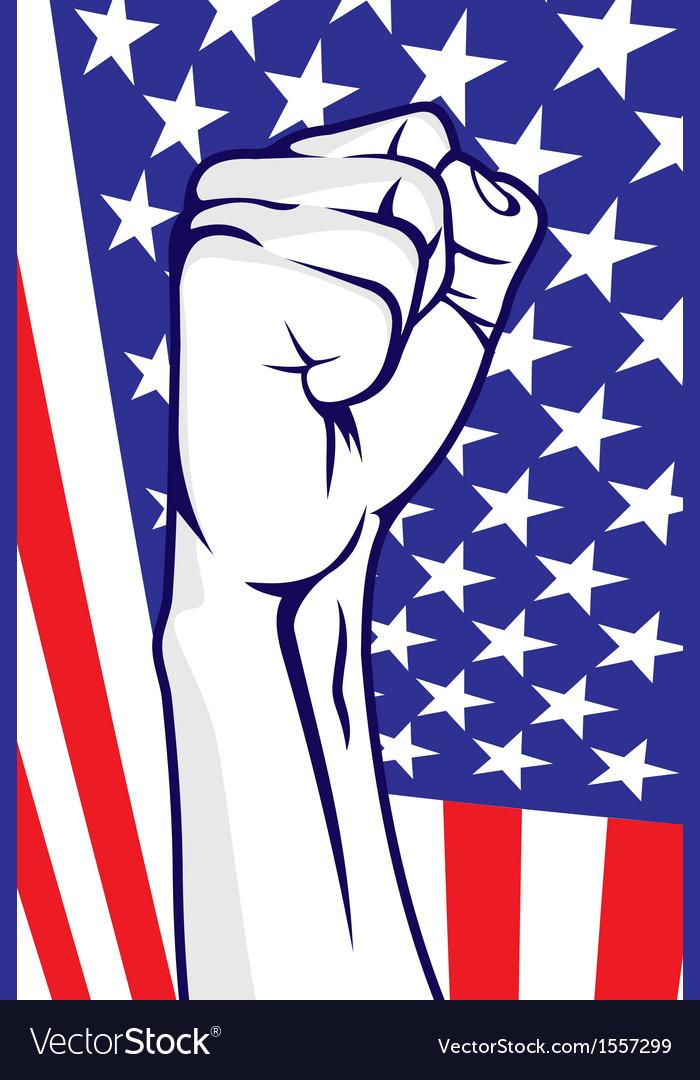 American fist vector | Price: 1 Credit (USD $1)