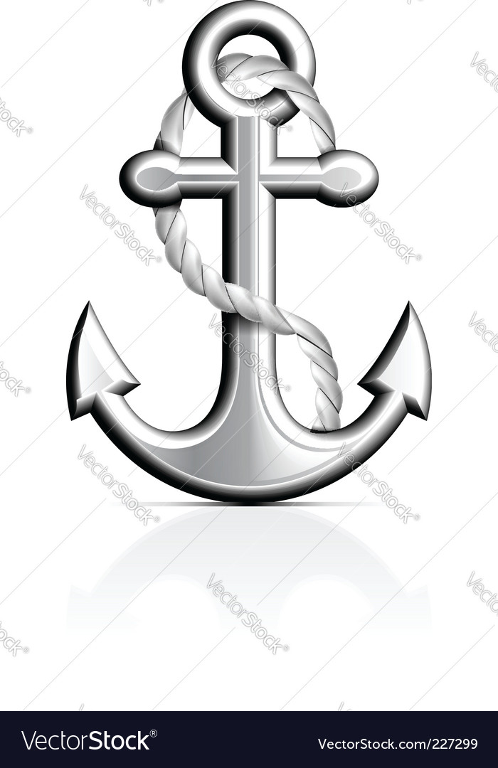 Anchor and rope vector | Price: 1 Credit (USD $1)