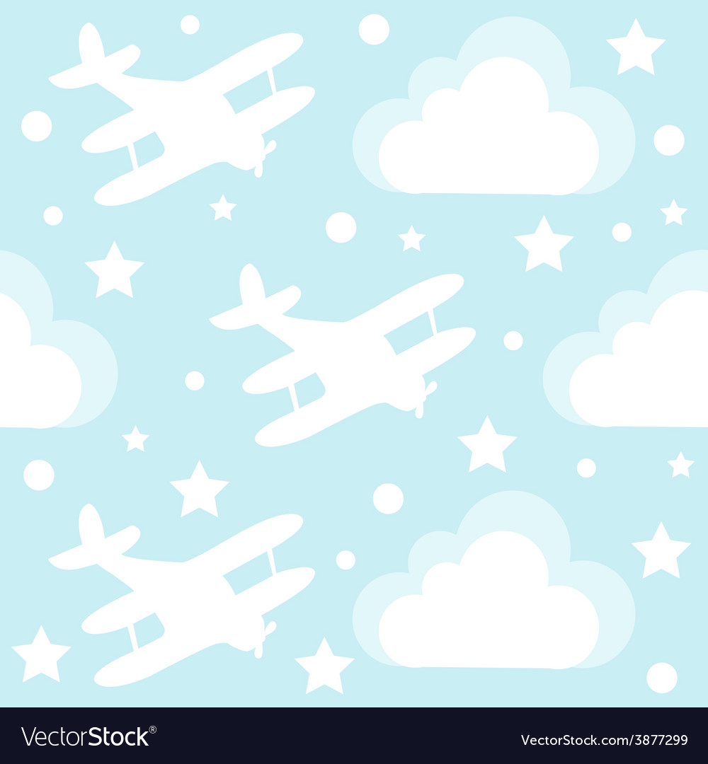 Baby boy seamless pattern with cartoon toy vector | Price: 1 Credit (USD $1)
