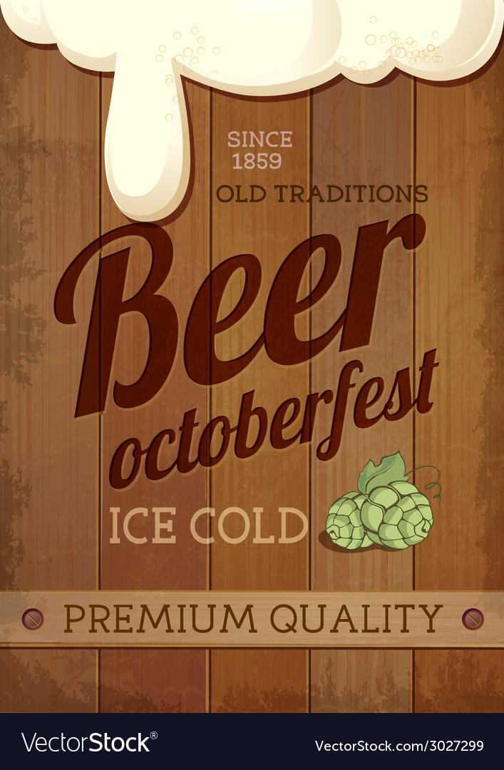Beer octoberfest poster vector
