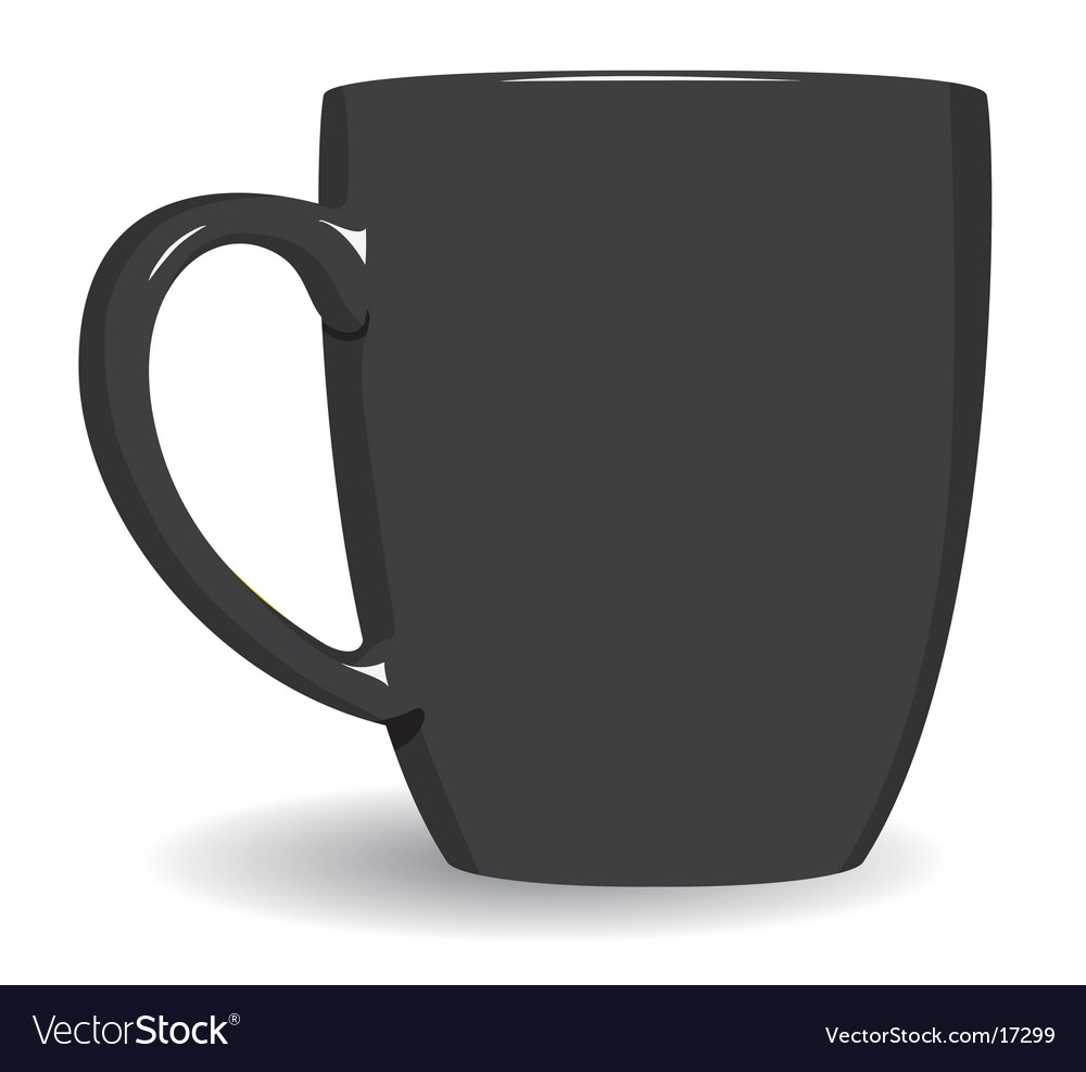 Black mug on white background vector | Price: 1 Credit (USD $1)