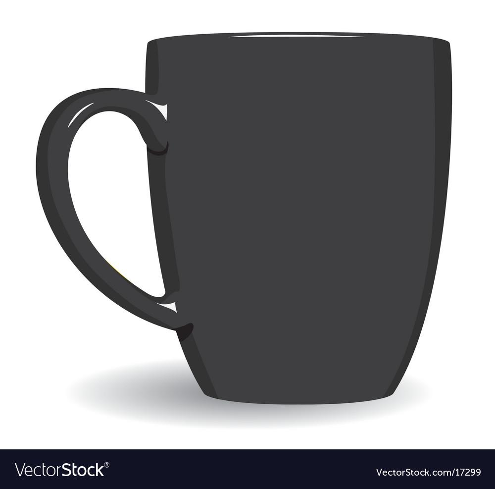 Black mug on white background vector | Price: 1 Credit (USD $1)