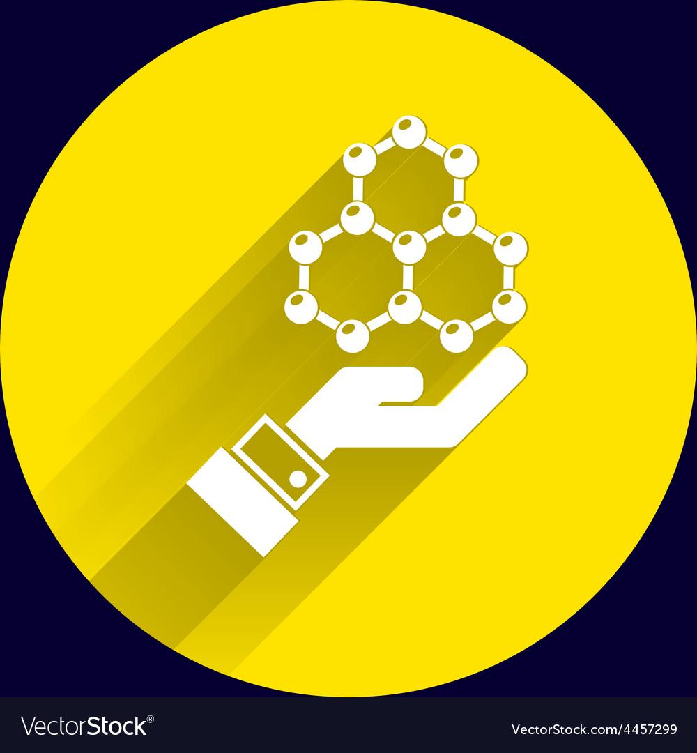 Checkmark on hand web icon design vector | Price: 1 Credit (USD $1)