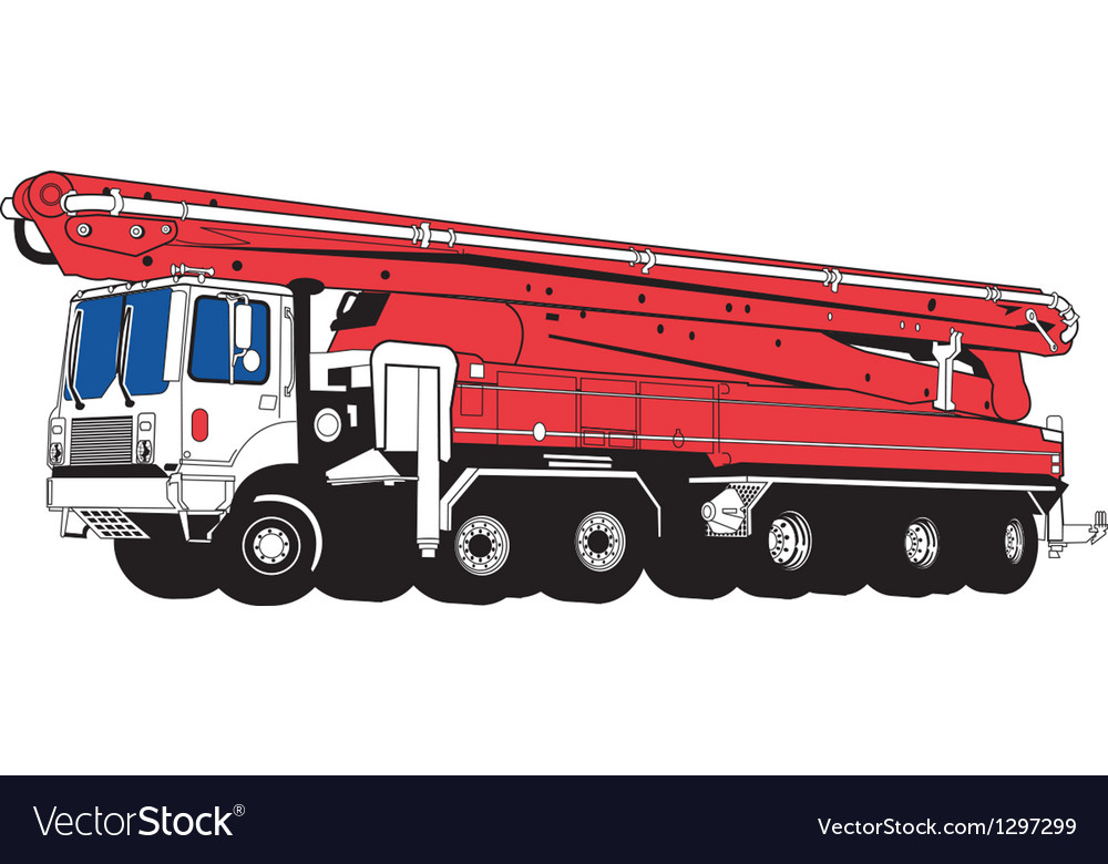 Concrete truck vector | Price: 1 Credit (USD $1)
