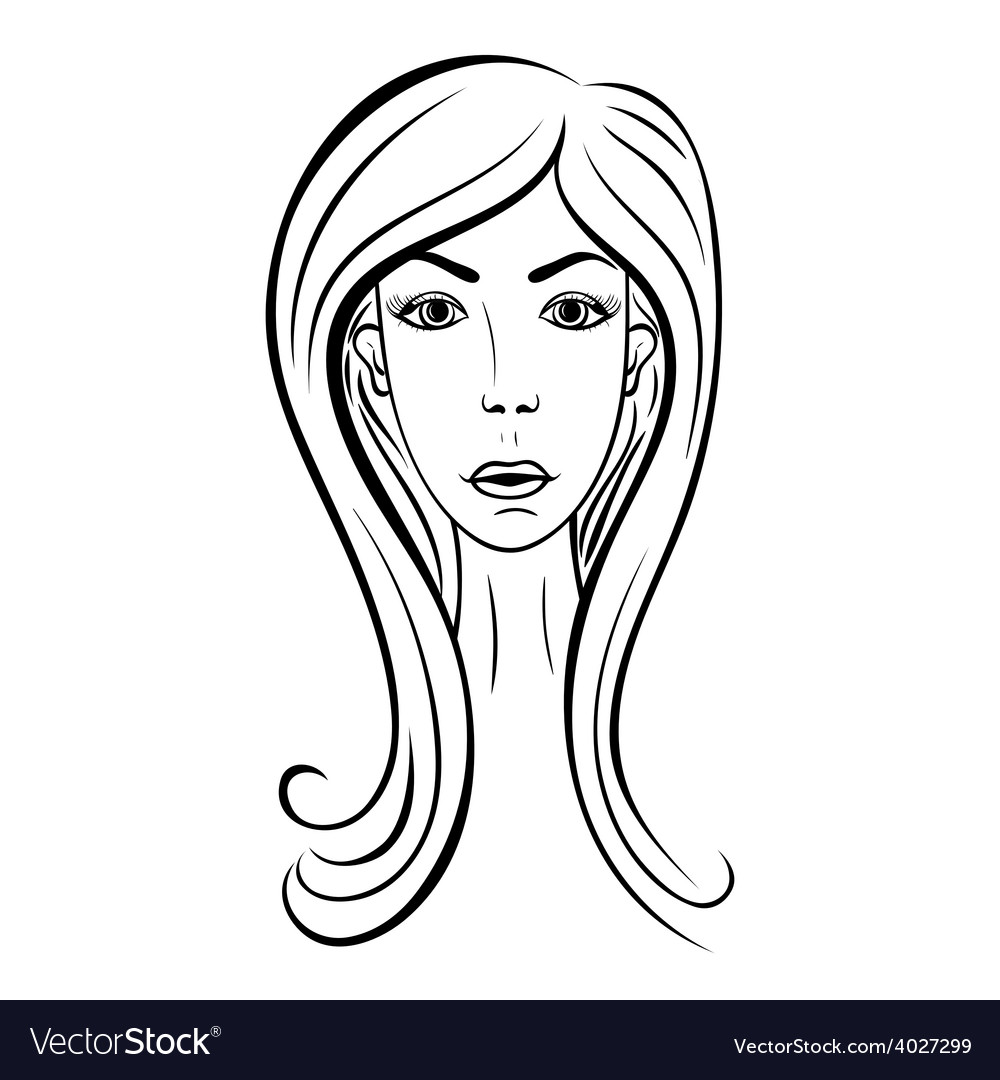 Girl face fashion vector | Price: 1 Credit (USD $1)